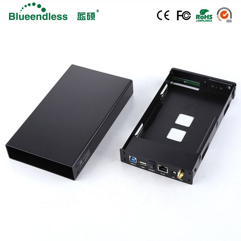SATA USB 3.0 hdd3.5 Wifi Extender/HDD Bay HDD Enclosure SATA Interface Aluminum Nas enclosure RJ45 Wifi Router Repeater HDD Case
