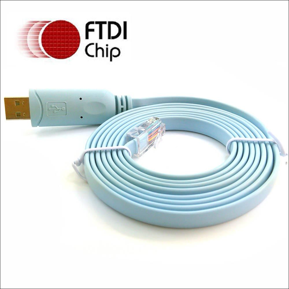 ftdi usb rs232 rj45 serial console cable for h3c 9306 huawi fortinet cisco router switch rollover cable