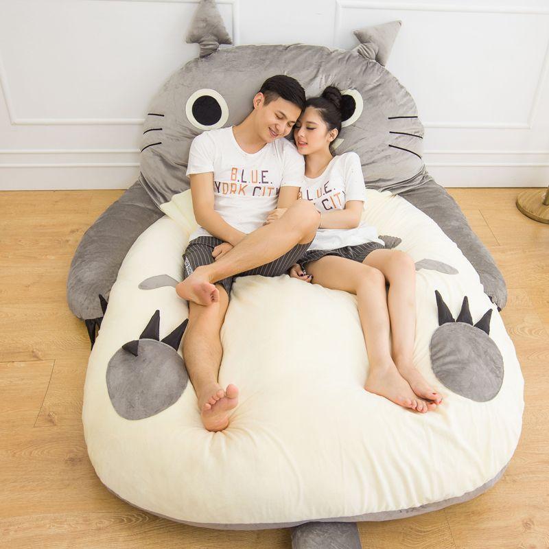 Große Totoro Bett Sofa Weichen Cartoon Matratze Totoro Tier Design Für Kinder Tatami-Matte Große Größe Kissen Geschenk Dropshipping