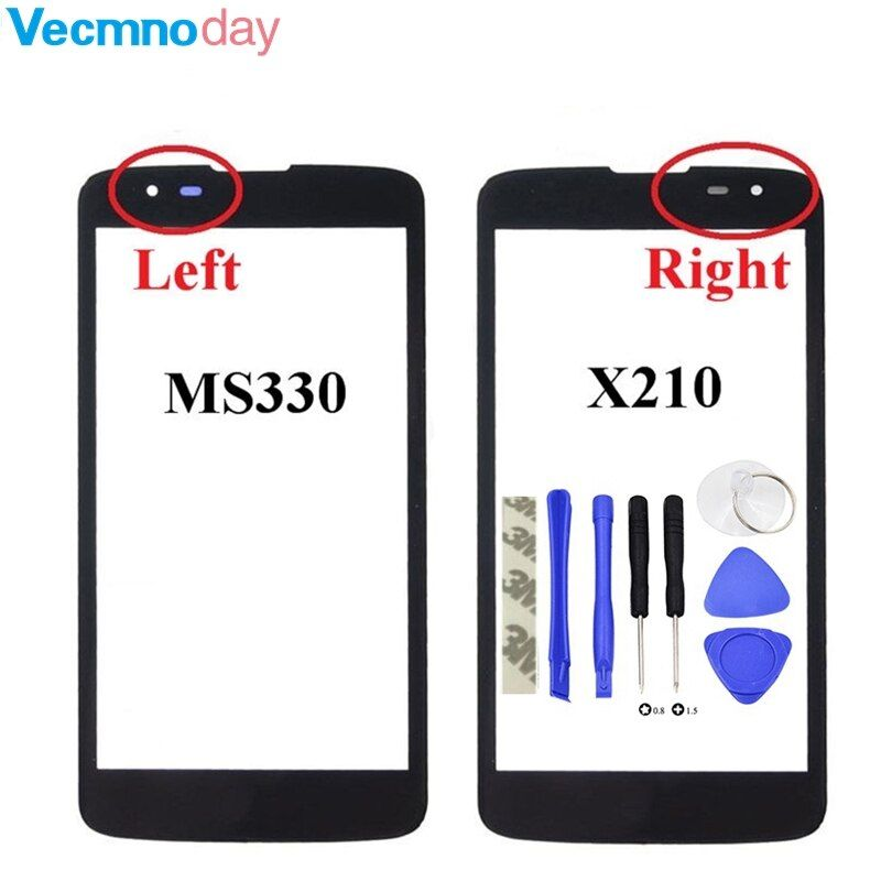 Vecmnoday Front Screen Outer Glass Touch Outer Cover Panel LENS For LG K7 X210 X210DS MS330 Tribute 5 LS675 Touchscreen