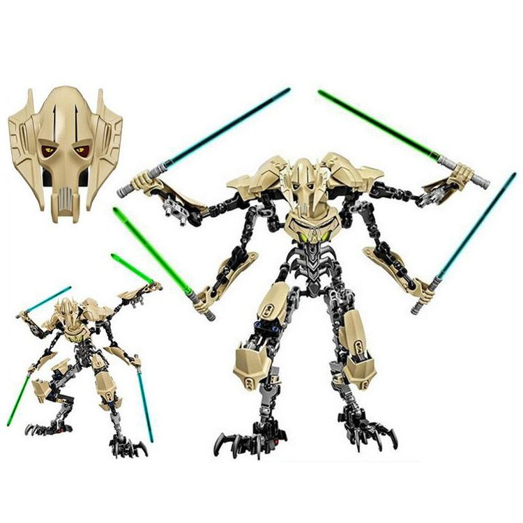 183pcs Star Wars General Grievous with Lightsaber Figure Toys Building Blocks Compatible with Legoingly starwars Gift Toys