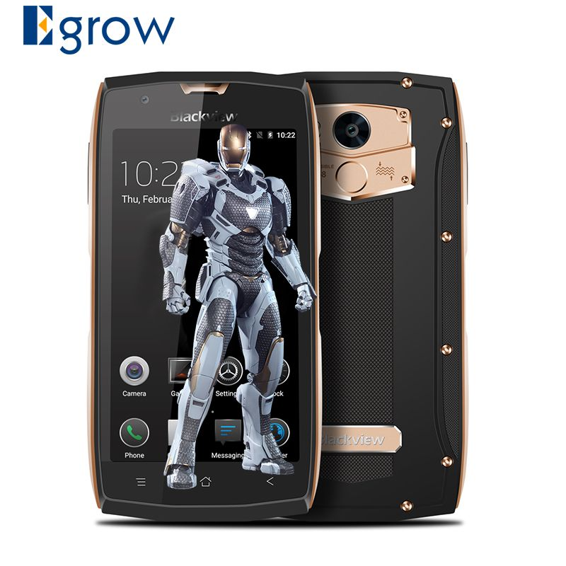 Blackview BV7000 IP68 Waterproof Smartphone Android 7.0 MTK6737T Quad-core 2G+16G 5.0'' 1080*1920px Fingerprint ID Mobile Phone