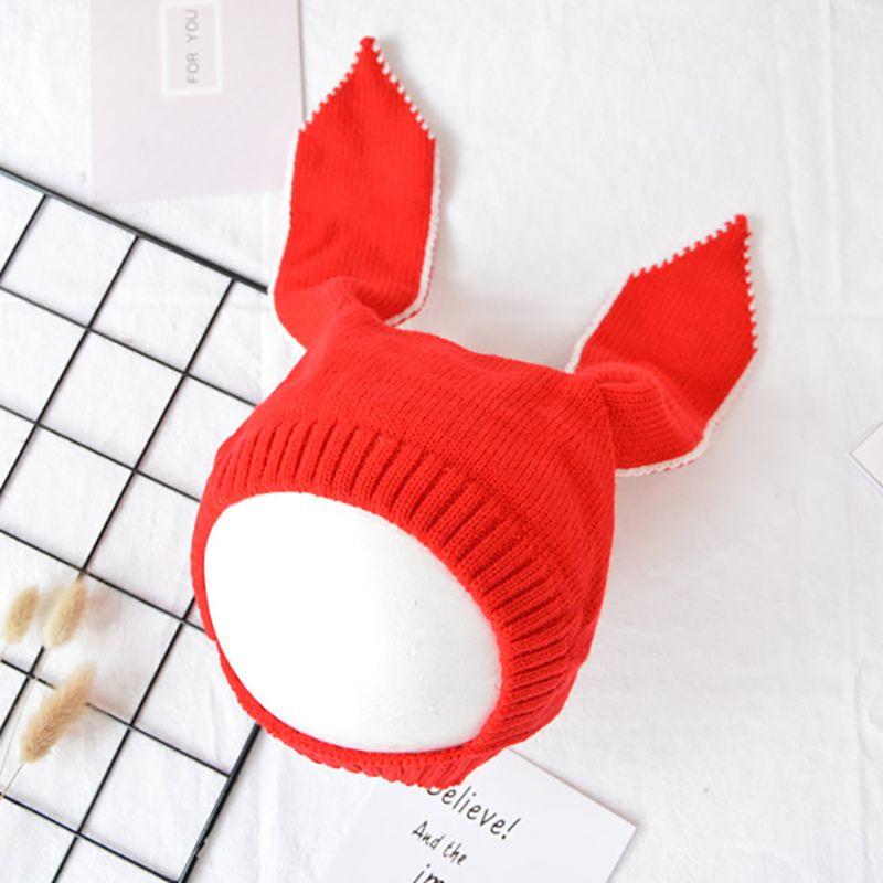 Pluckystar conejo del oído del bebé del sombrero del bebé del invierno casquillos calientes bebes sombreros para Niñas knit Bonnet enfant newborn fotografía props C16
