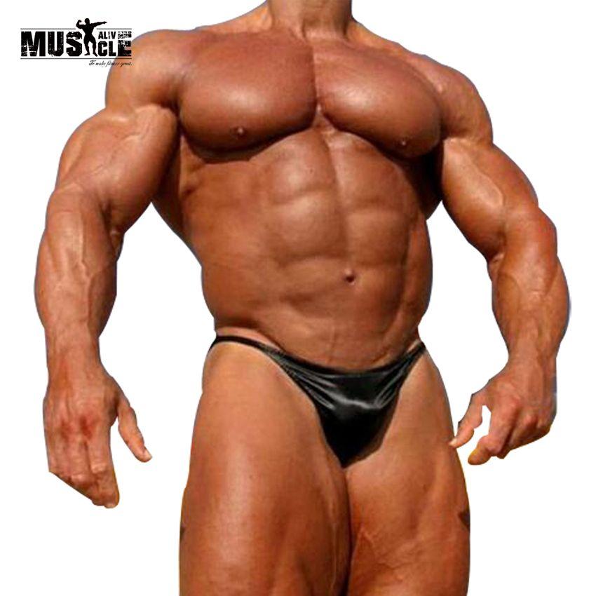 Hommes musculation posant des troncs compétition posant porter Sexy plage maillots de bain garçons maillots de bain sous-vêtements chauds poche profilée