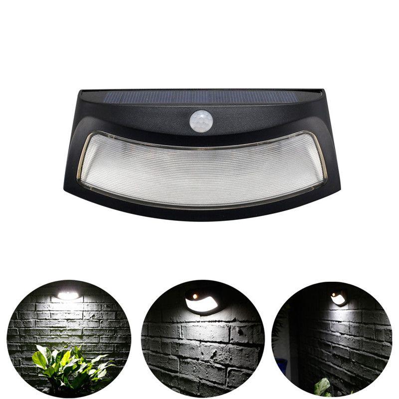 8 LED Solar Induction Light Wall Lamp Infrared Sensor Lamp Outdoor Garden Lights 7.20