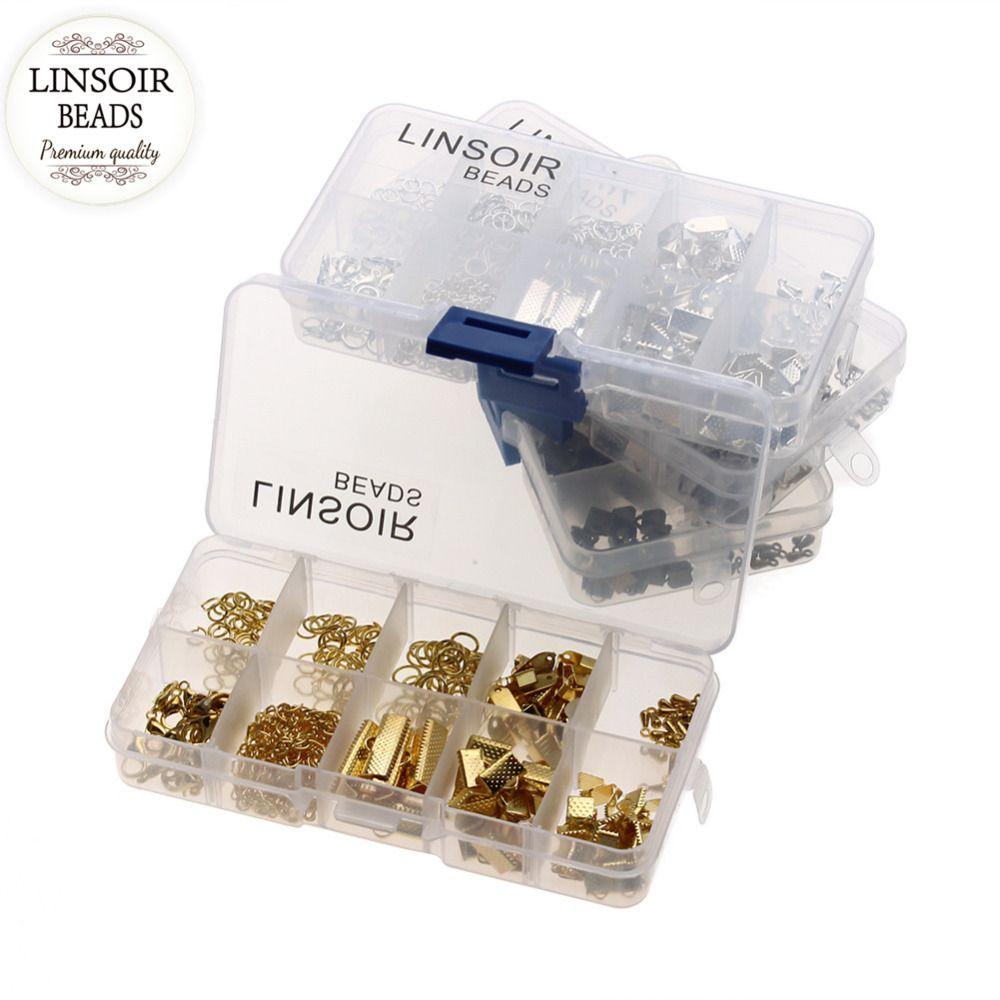 LINSOIR 1 ensemble/lot Anneaux Embouts Extender Chaîne Homard Fermoirs Résultats de Bijoux Kit Accessoires Pour Bijoux DIY Faire F2974
