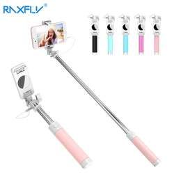 RAXFLY Universal Selfie Stick For iPhone 6 6S For Samsung Huawei LG Mobile Phone Mini Foldable Tripod Mirror Wired Selfie Sticks