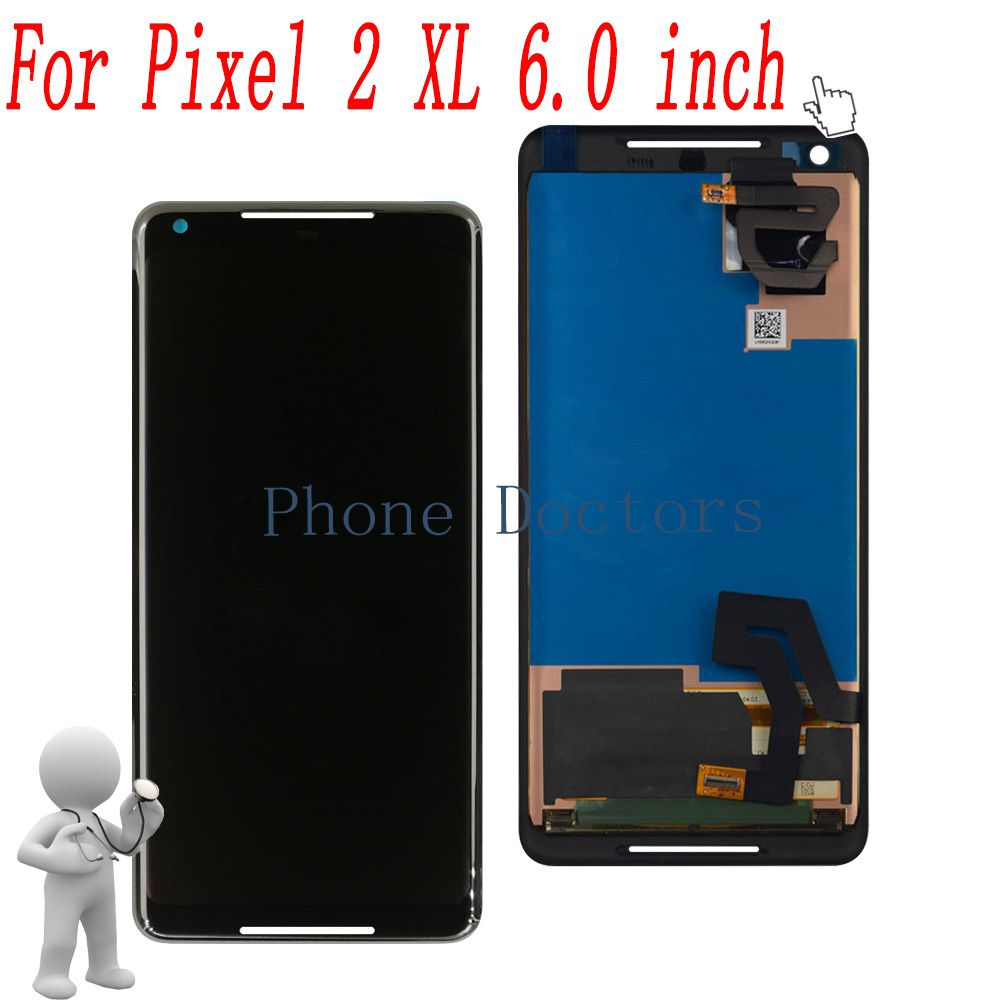 6.0 '' Full LCD DIsplay +Touch Screen Digitizer Assembly For Google Pixel 2 XL G011C ;Black ;New ;100% Tested