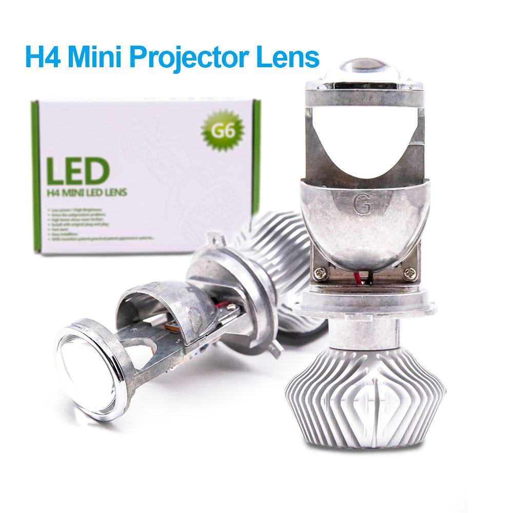 2x H4 LHD LED Bulbs Lossless LED Conversion Kit Bulb Light Lamp Hi/Lo Beam Headlight with Mini Projector Lens 12V/24V