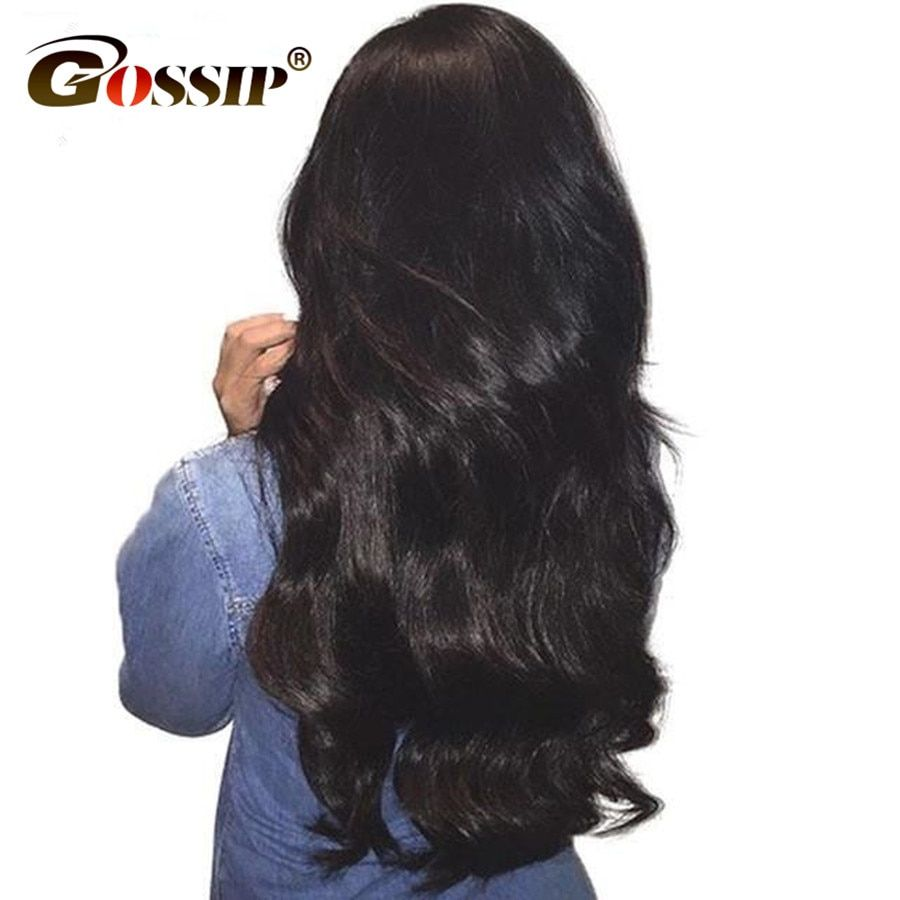 Gossip Lace Front Human Hair Wigs For Black Women Malaysian Body Wave Wigs 10