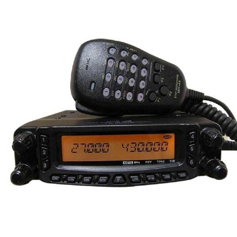 HYS Black Quad Band HF/VHF/UHF Air Band Moible Transceiver Vehicle Radio TC-9900