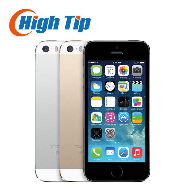 Original siegelkasten Fabrik Entsperrt apple iphone 5 s telefon 16 GB 32 GB 64 GB ROM IOS GPS GPRS LTE 4,0 zoll fingerabdruck verwendet