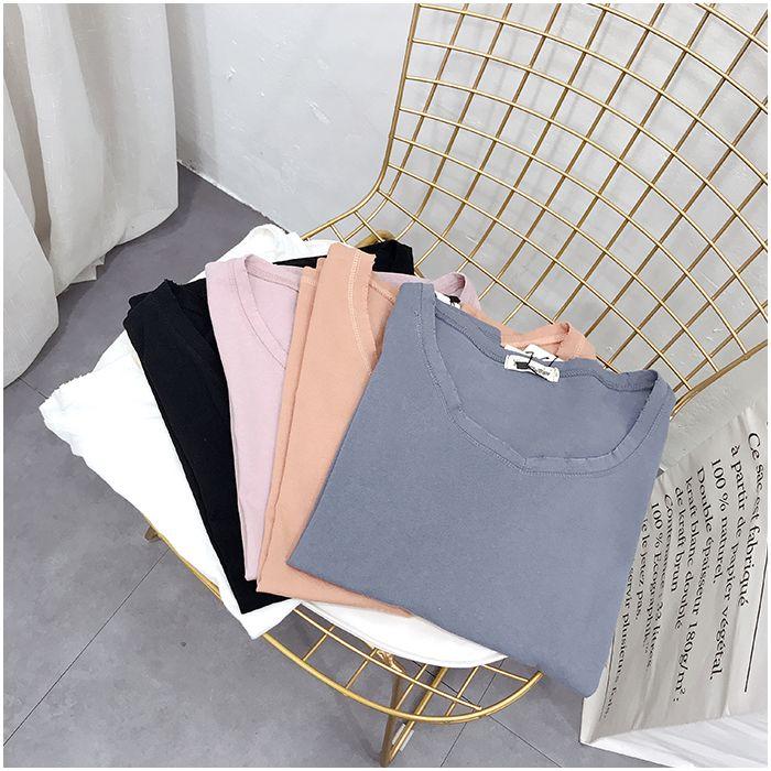 Women's Wear, 2018 New 200 Kilograms, Fat Mm, Summer Wear, Small V Collar, Printed Jacket, Multicolored Jolt T-shirt.