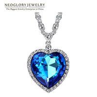 Neoglory grande, hecho con los elementos de SWAROVSKI Cristal corazón amor Maxi Boho gargantilla collares y colgantes para las mujeres joyería de moda 2018