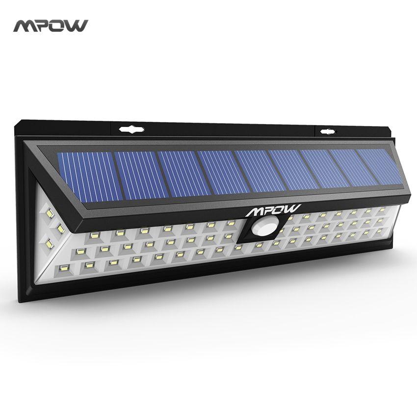 Mpow 54 LED Night Lighting Waterproof Solar Lights Wide Angle LED Solar Lamp Outdoor Garden Emergency Wall Solar Lampion Hot