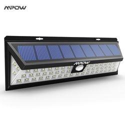 Mpow 54 LED noche Iluminación luces solares impermeables gran angular LED lámpara solar del jardín al aire libre Pared de emergencia solar lampion caliente