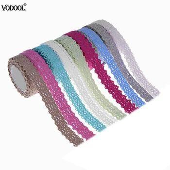 2 Mètres Mode BRICOLAGE Décoration Ruban Tissu Coton Dentelle Washi Bande, papeterie Adhésif Rubans De Masquage Cadeaux Décor À La Maison