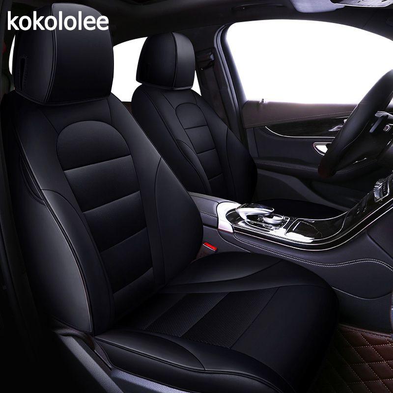 Kokololee individuelle echt leder auto sitz abdeckung für Mitsubishi pajero sport pajeroV93/V97 OUTLANDER EX ASX Grandis auto Zubehör