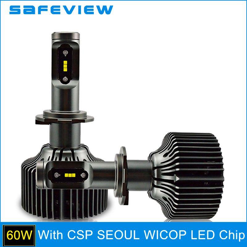 SAFEVIEW H7 LED H4 5000K Car Headlight Bulbs H8 H9 H11 HB3 9005 HB4 9006 D1S D2S D2R D3S D4S 9004 9007 30W 6000K head lamp bulbs