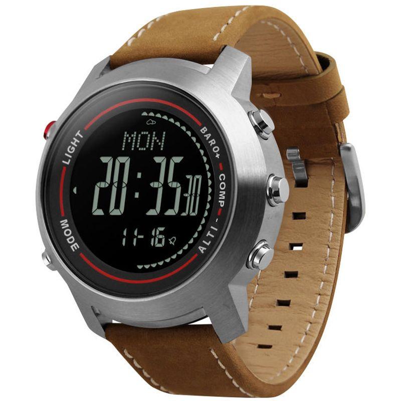 CAINO Männer Sport Digitale Armbanduhren Kompass Höhenmesser Barometer Leder Band Fashion Outdoor Uhren Uhr Relogio Masculino