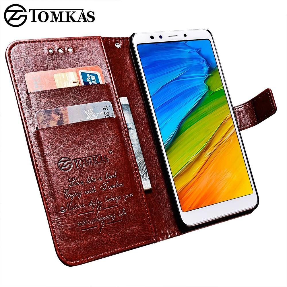 TOMKAS Portefeuille Cas de Téléphone Pour Xiaomi Redmi 5 Cas Couverture Originale PU Flip 5.7 Pouce Cas Pour Xiaomi Redmi 5 Plus D'affaires