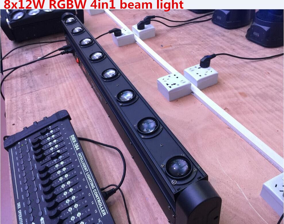 LED Bar Beam Moving Head Light RGBW 8x12W Perfect for Mobile DJ, Party, nightclub Colorstage 8 BEAM MOVING