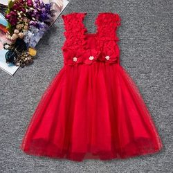 Christmas Princess Flower Girls Dresses Toddler Girl Party Child's Wear Tutu Baby Girl Clothing Princess Kids Dress Vestidos