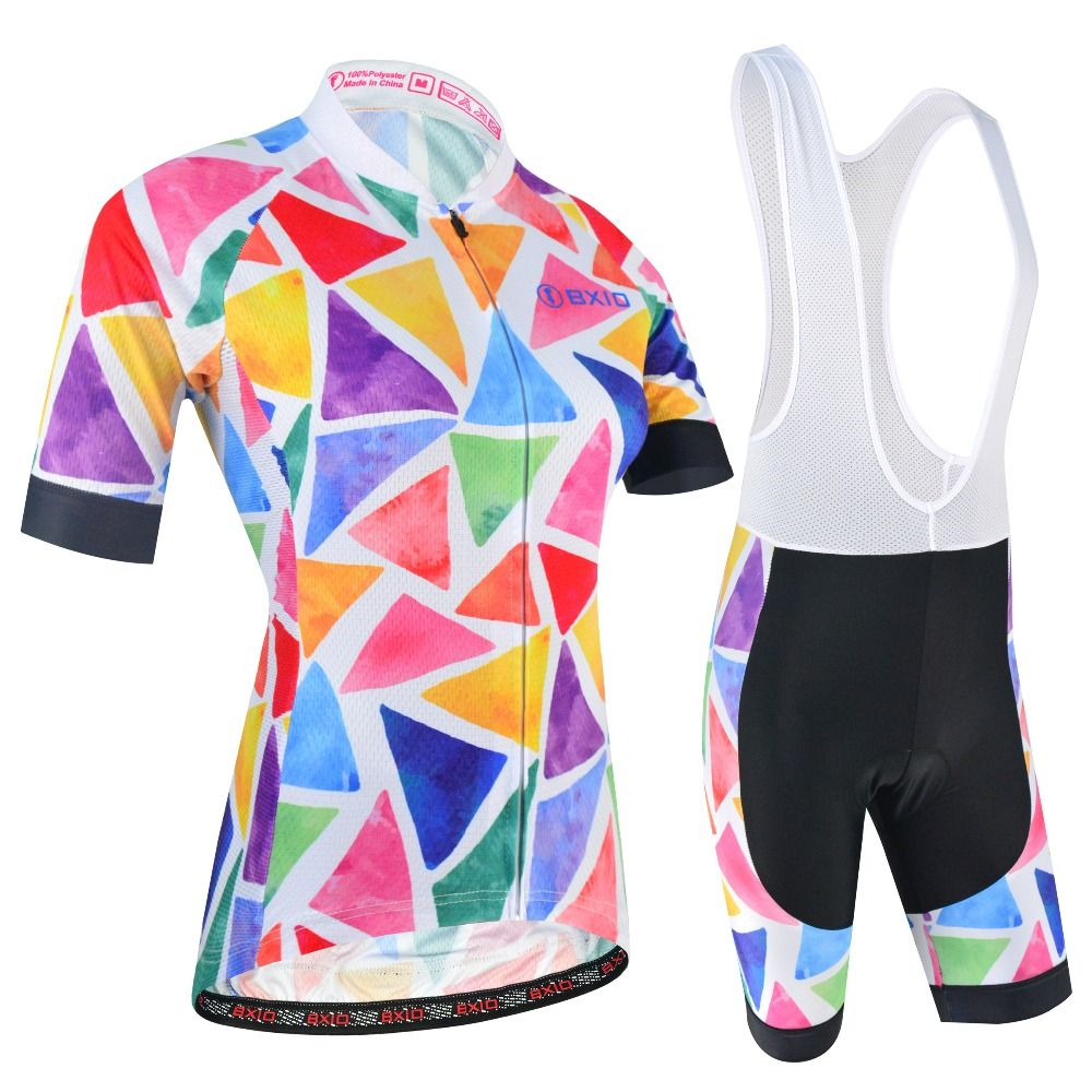 BXIO Women Cycling Clothing Breathable Summer Cycling Jersey Mountian MTB Bike Sets Bicycle Clothes Quick-Dry Ropa Ciclismo 181