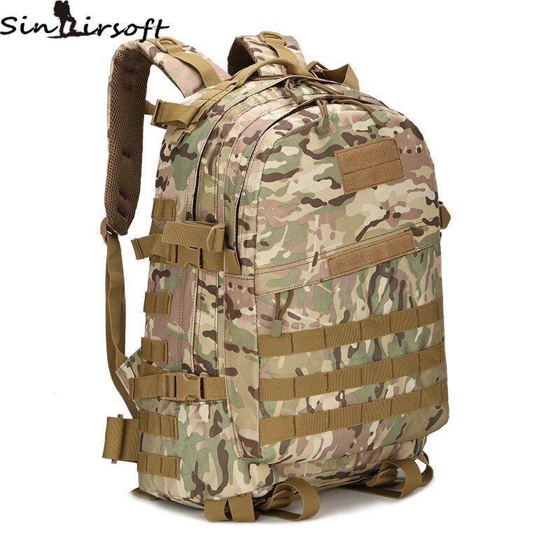 3D Outdoor Sport Military Tactical Climbing Mountaineering Backpack Camping Hiking Trekking <font><b>Rucksack</b></font> Travel Outdoor Bag 55L Bags