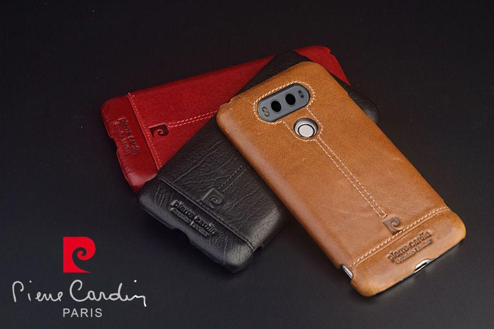 Pierre Cardin Роскошный чехол для LG V10 V20 Пояса из натуральной кожи ячейки Телефонные Чехлы ультра тонкий жесткий чехол Лидер продаж для LG v20