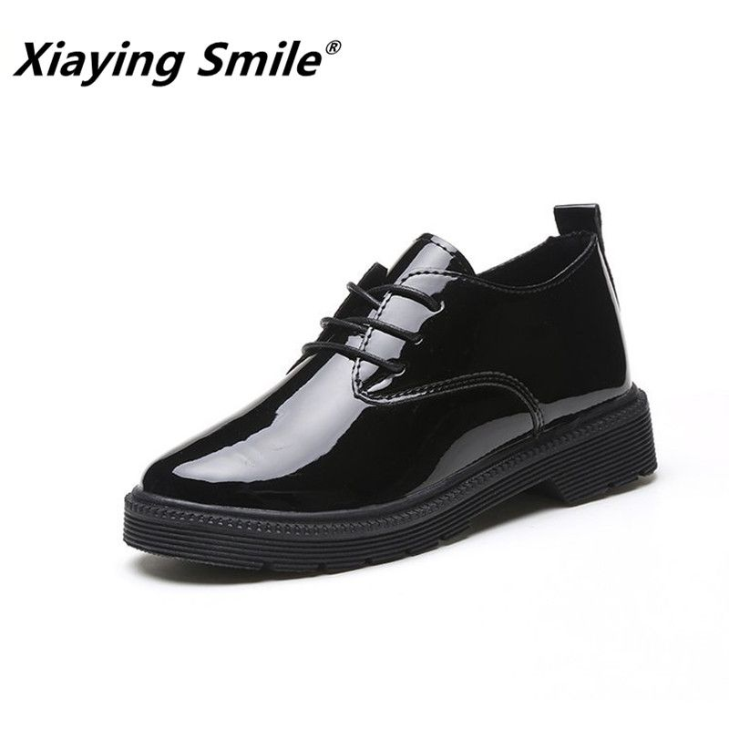 Xiaying Smile Women Heel Pumps New Fashion Casual Shoes Spring Autumn Female Concise Lace-up Square Heel Round Toe Pumps Shoes