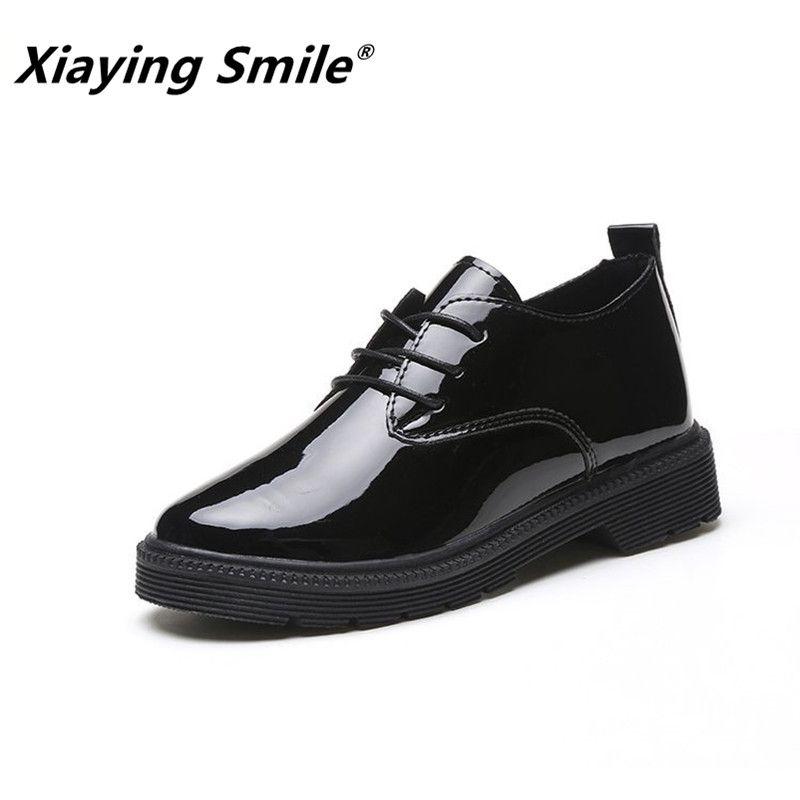 Xiaying sourire femmes talon pompes nouvelles chaussures de loisir à la mode printemps automne femme Concise à lacets talon carré bout rond pompes chaussures