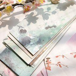5 pcs/lot vintage paysage enveloppe cartes postales carte de voeux couvrir papier enveloppes papeterie fournitures scolaires cadeau enveloppe
