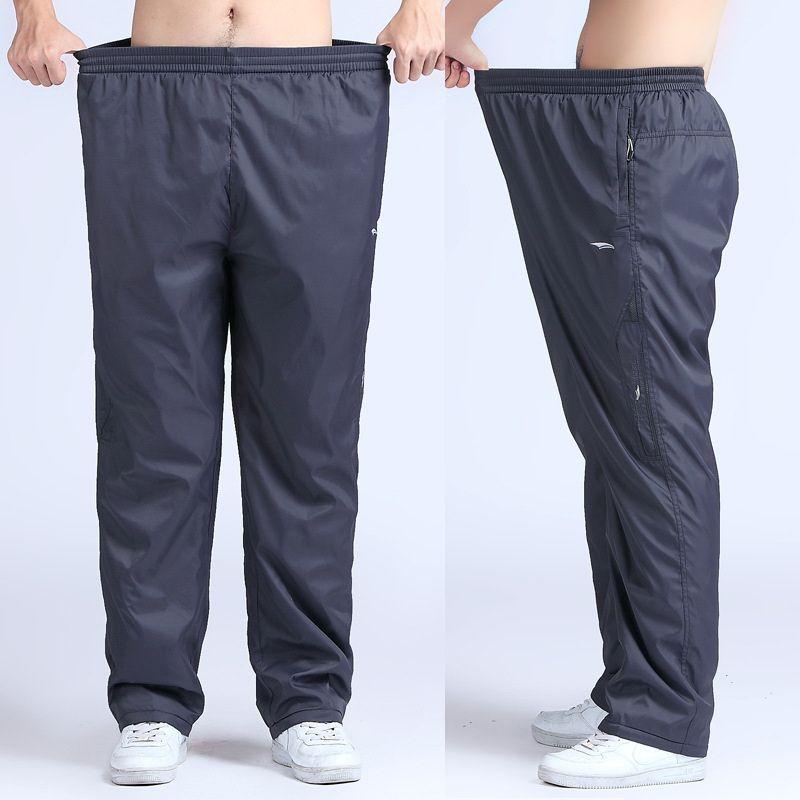 Grandwish pantalons actifs pour hommes à séchage rapide grande taille 6XL pantalons longs pour hommes taille élastique à l'extérieur des pantalons d'exercice pour hommes, PA215