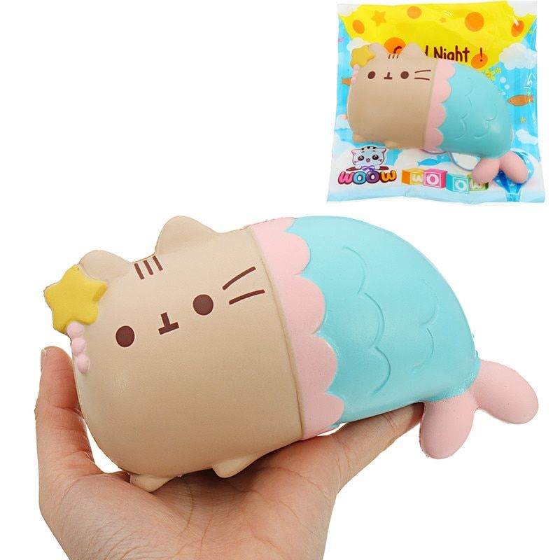 Cat Kitten Soft Key Bags Phone Straps pendant 15cm Slow Rising Toy Big Squishies Mobile Chain anti stress Gift Collect for Kids