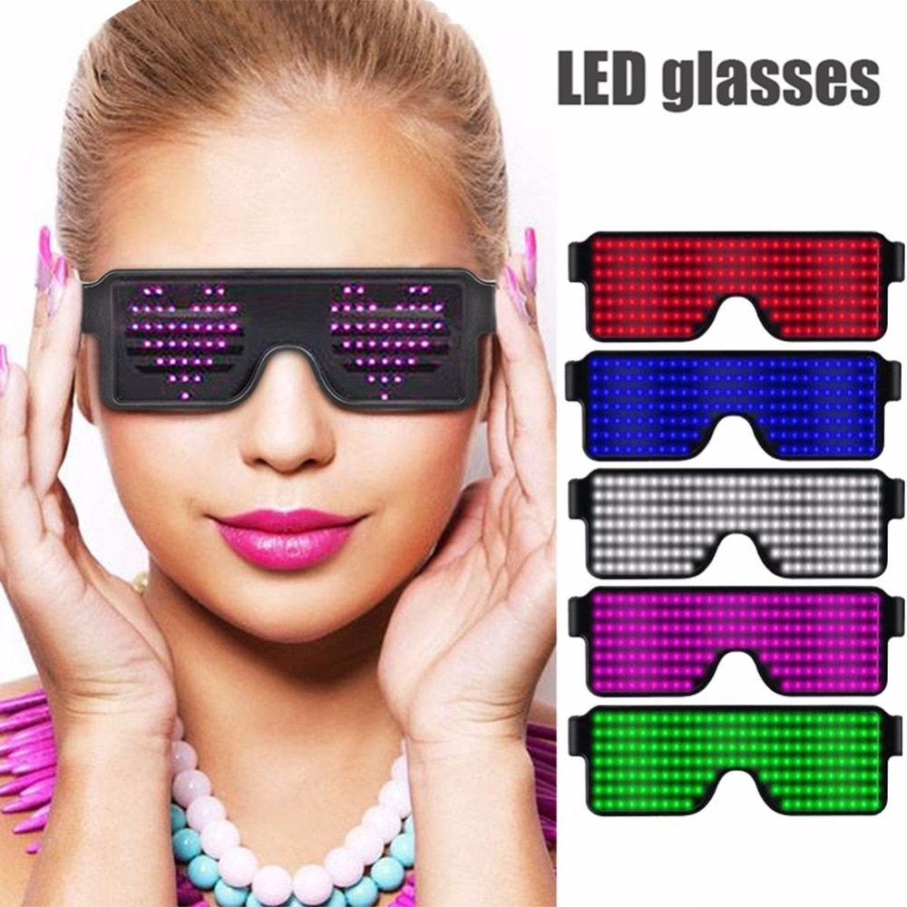 8 modi Schnell Flash-Led Party Brille USB ladung Leucht Gläser Weihnachten Konzert licht Spielzeug Party Dekoration Dropshipping