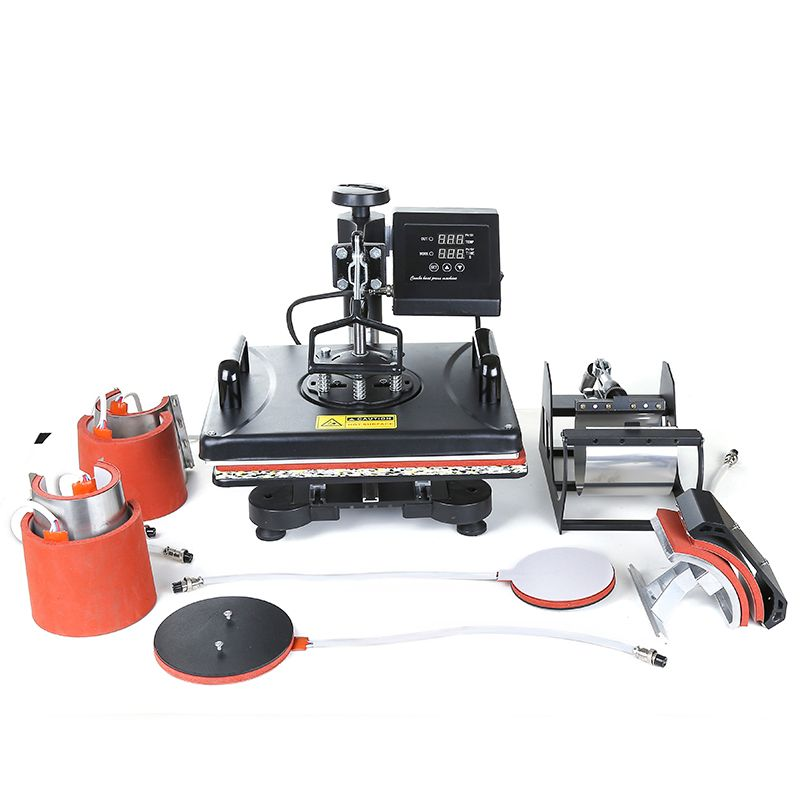 8 in 1 Multifunction combo sublimation machine, Swing-away Heat Press Machine Hat/Mug/Plate/Case/T-shirt