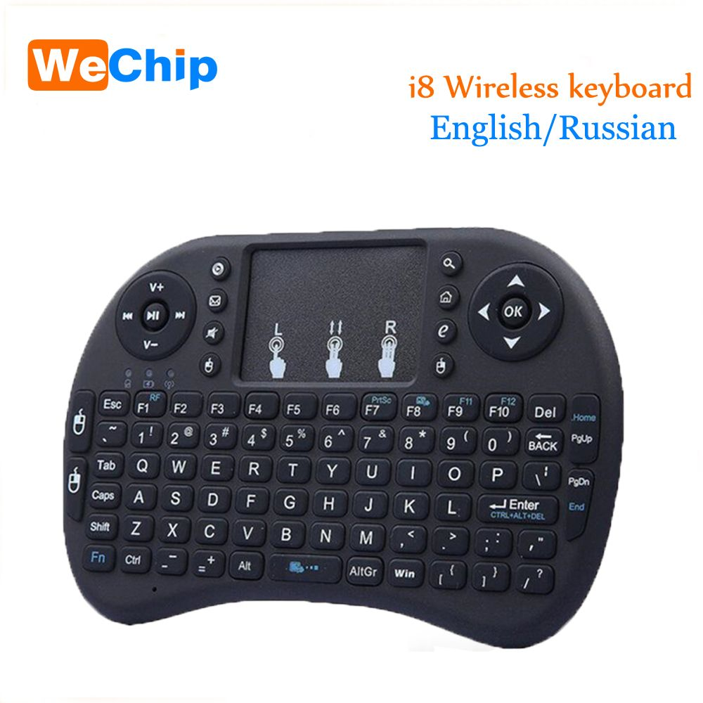 Mini i8 Wireless Keyboard 2.4GHz English/Russian letters Air Mouse Remote Control Touchpad For Android TV Box Notebook Tablet Pc