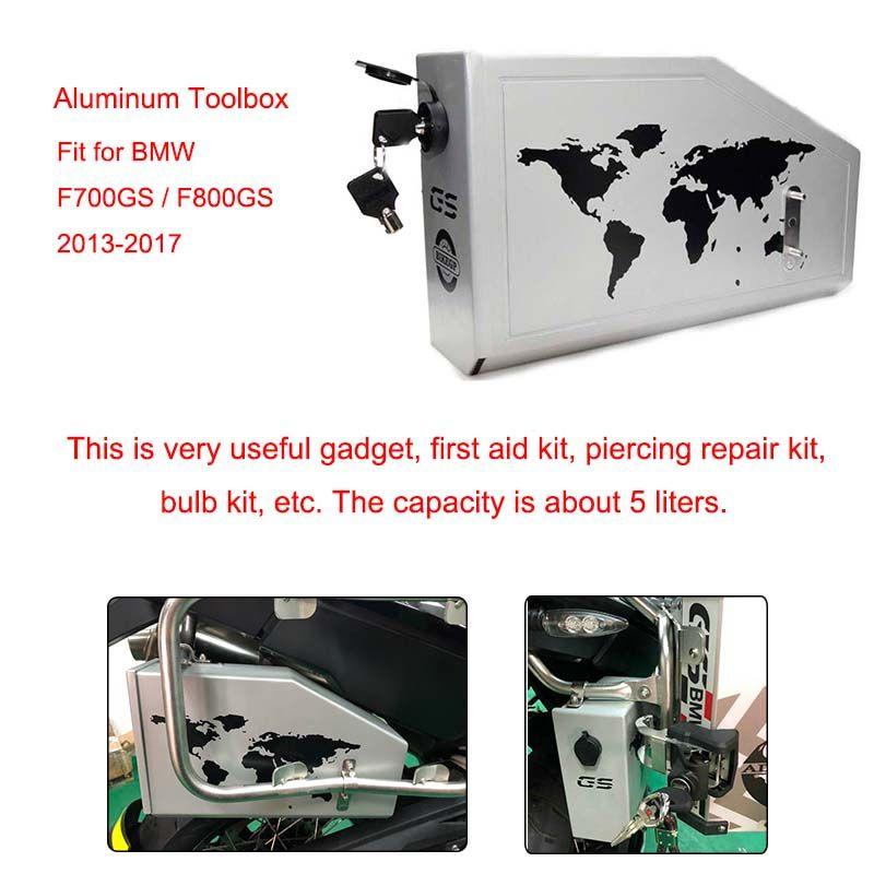 5 liter Motorrad Dekorative Aluminium Box Toolbox Geeignet für BMW F700GS F800GS 2013 2014 2015 2016 2017 Toolbox Marke Neue