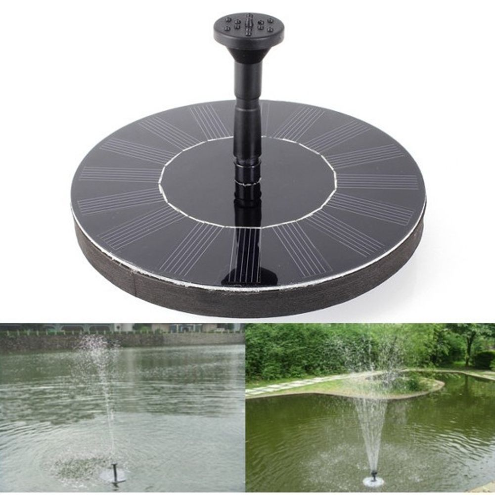 Solar Power Fountain Garden Fountain Solar Water <font><b>Pump</b></font> Solar Panels Floating Water <font><b>Pump</b></font> Watering Systerm Garden Decoration
