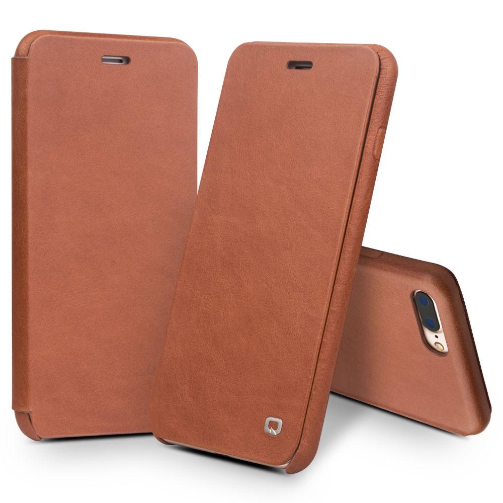 QIALINO Echtes Leder-schlag-fall für iPhone 8 Luxury Ultra Slim reine Handgemachte Handy-abdeckung für iPhone 8 plus 4,7/5,5 zoll
