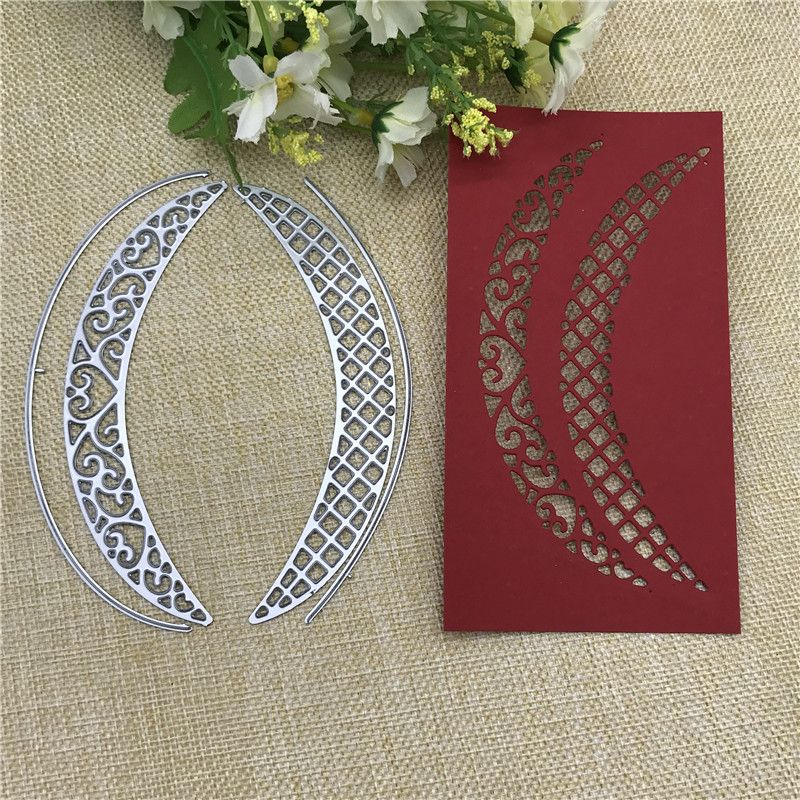 Metal Cutting Dies moon hollow out background Scrapbooking paper craft emboss knife blade punch stencils stamp cut dies