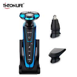 TINTON LIFE Washable Rechargeable Electric Shaver Electric Shaving Men Beard Shaving Machine Razor Rechargeable