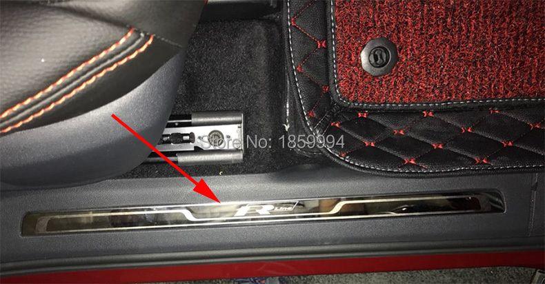 2016 2017 2018 VW Tiguan mk2 European version Rline R-line car interior scuff plate door sill trim welcome pedal 4pcs/lot