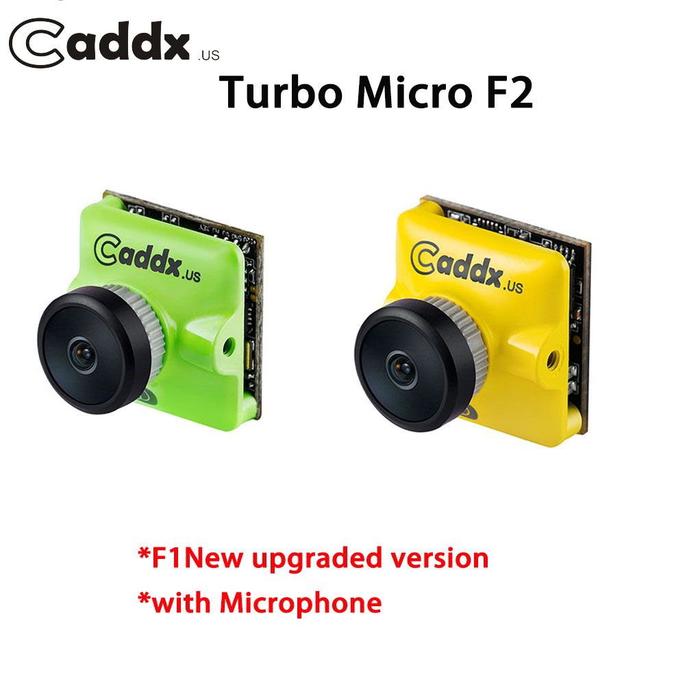 NEW Upgraded CADDX.US Turbo MICRO F2 1200TVL CMOS FPV Camera with Microphone PAL/NTSC Switchable for FPV Racing Drone kit