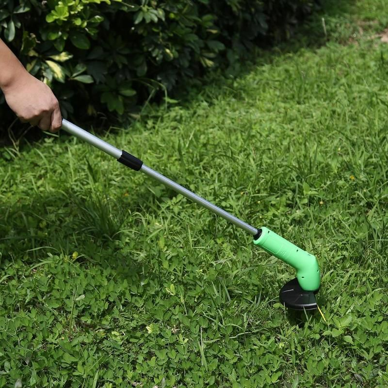 Portable Grass Trimmer Cordless Lawn Weed Cutter Edger with Zip Ties Gardening Mowing Power Tools Kits Grass Trimmer