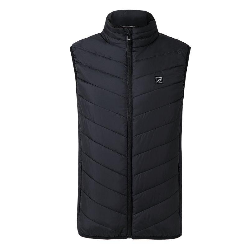 ZYNNEVA 2018 New Men Women Electric Heated Vest Heating Waistcoat USB Thermal Warm Cloth Feather Hot Sale Winter Jacket GC1101