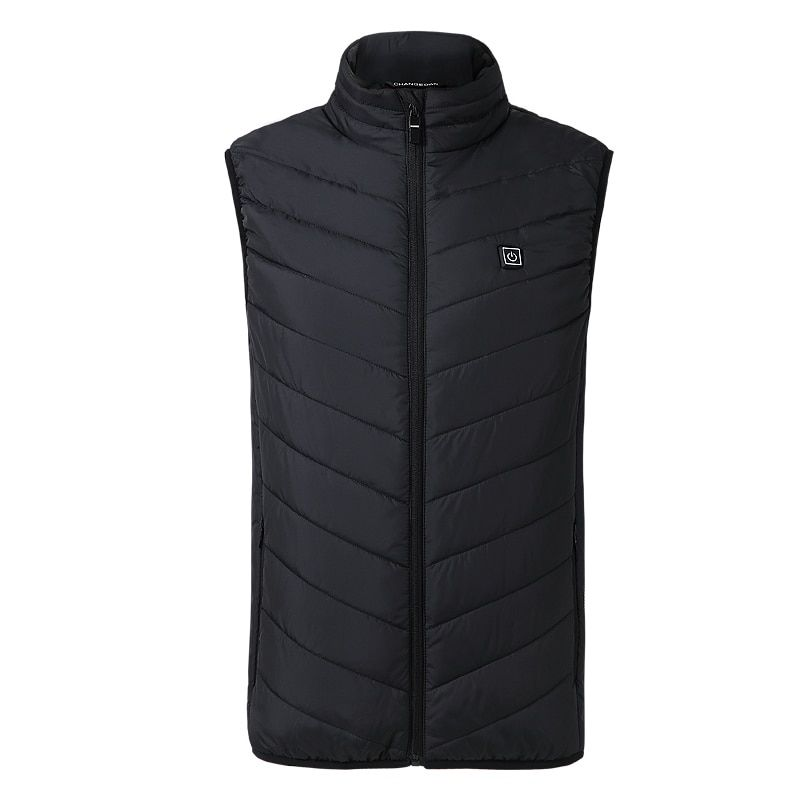 ZYNNEVA 2018 New Men Women Electric Heated Vest Heating Waistcoat USB Thermal Warm Cloth Feather Hot Sale Winter Jacket GC1101
