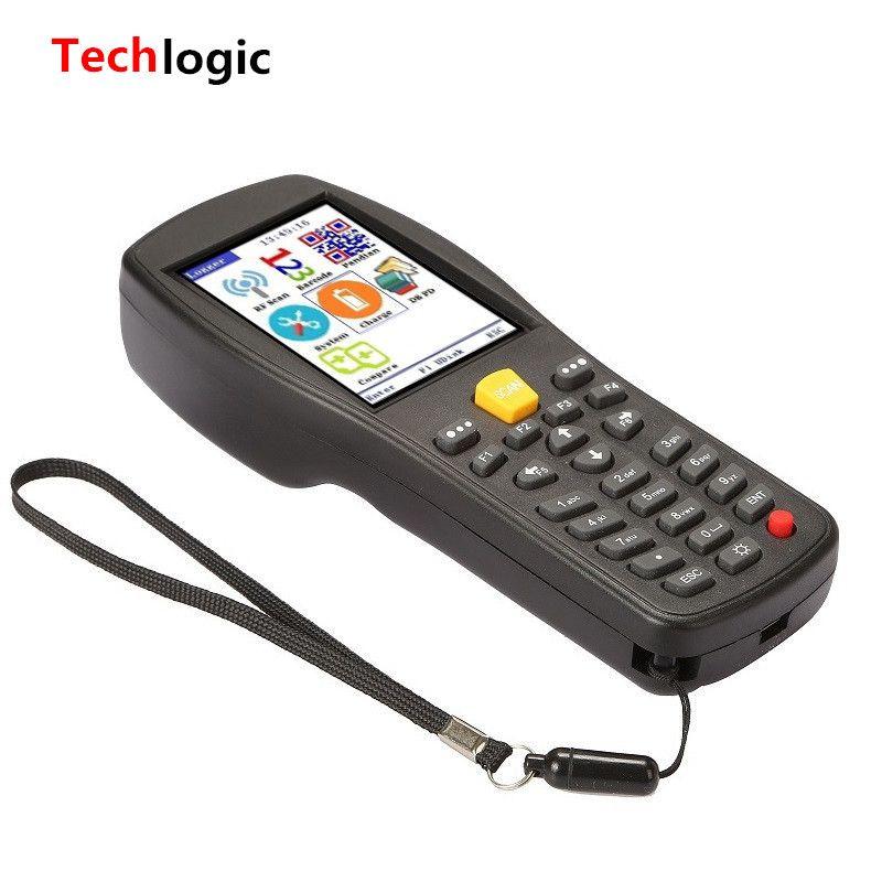Techlogic X9 2D QR PDF417 Datametrix 2D Wireless Barcode Scanner Handhold Terminal PDA QR Code Scanner Bar Gun