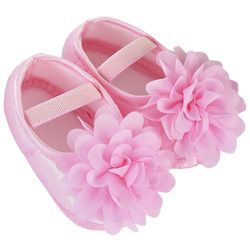 Niño niño niña Zapatos gasa flor banda elástica recién nacido Zapatos para caminar bebek ayakkabi Venta caliente niño Zapatos
